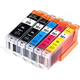 Compatible Canon Pixma MX925 High Capacity Ink Cartridges - Black, Cyan, Magenta, Yellow (5-Pack)