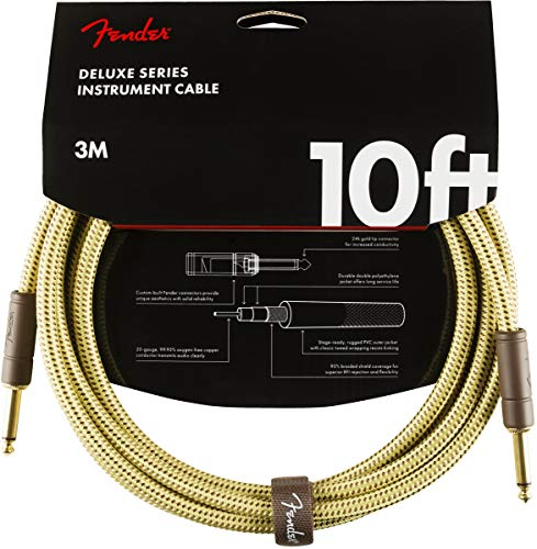 Fender Deluxe 10' Instrument Cable - Tweed