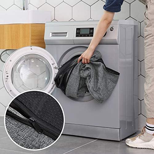 FEANDREA Lit pour Chien, Panier pour Chien, Revêtement en Tissu Style Ours en Peluche Déhoussable et Lavable en Machine, Gris PGW11GG