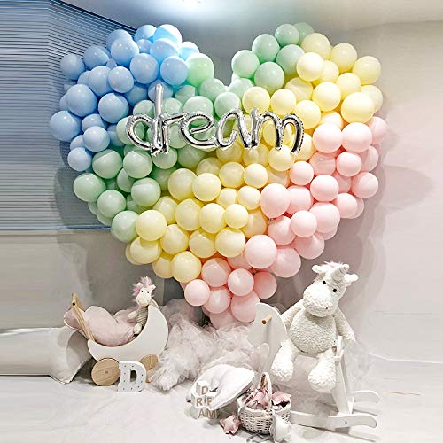 LAKIND 200pcs 5 Inch Mini Pastel Balloons Assorted Macaron Candy Colored Latex Party Balloons for Wedding Birthday Baby Shower Party Decor Supplies Arch Balloon Tower Balloon Garland -