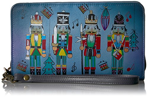 Anuschka Anna Handpainted Leather Women's Ladies Clutch Wristlet by Anna by Anuschka