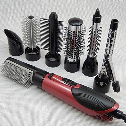 GQSZ 7 in 1 Hot Air Professional Hair Styler 3 Temperature 10V / 240V Hair Dryer Brush and Curling Irons
