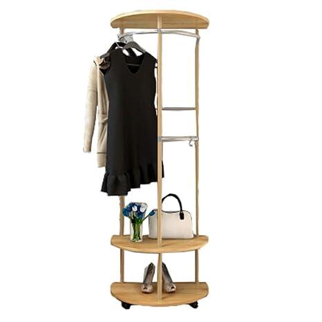 Amazon.com: Perchero de madera con estante para zapatos ...