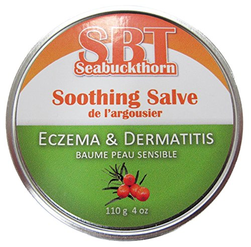 Eczema & Dermatitis Salve (Moisturizer) - Reduces Itch & Inflammation Naturally while Repairing Damaged - Rosacea Sea Buckthorn