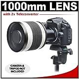Rokinon 500mm f/6.3 Multi-Coated Mirror Lens with 2x Teleconverter (=1000mm) for Nikon D3100, D3200, D5100, D7000, D700, D800, D4 Digital SLR Cameras, Best Gadgets
