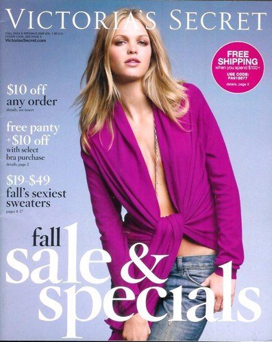 Victoria's Secret Catalog: Fall Sale & Specials 2009 - Volume 1