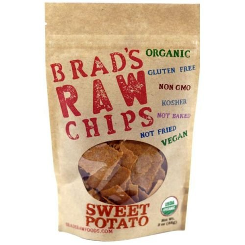 Brads Raw Foods Organic Sweet Potato Chips, 3 Ounce - 12 per case.