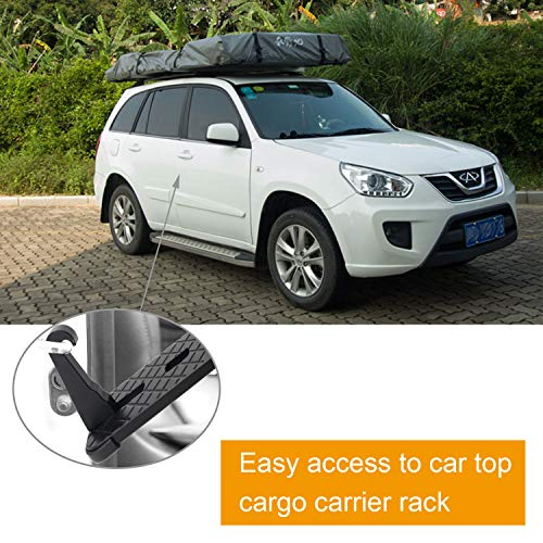 Car Doorstep Vehicle Hooked Folding Ladder Foot Pegs U Shaped Slam Latch with Safety Hammer for Jeep Car SUV, Easy Access to Car Rooftop Roof-rack by CESHUMD (Image #4)