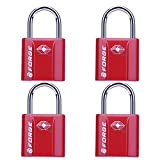 Red 4 Pack TSA Approved Luggage Locks