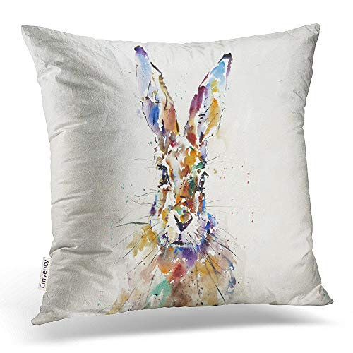 Accrocn Throw Pillow Covers Art Modern Watercolor Rabbit for sale  Delivered anywhere in USA