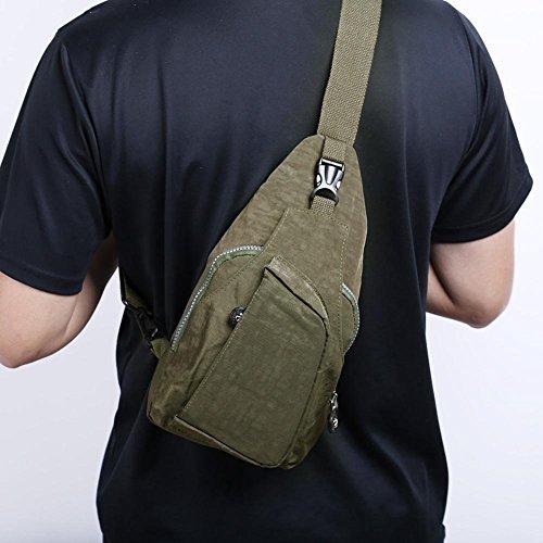 Travel Chest Crossbody Green Packs Shoulder Nylon Unisex Messenger Widewing Sport Handbags BXtEqwn