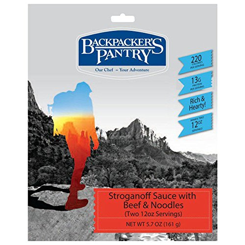 BACKPACKER'S PANTRY Beef Stroganoff With Wild Mushrooms, 2 Servings One Color