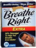 (130) Breathe Right Nasal Strips, Extra, by Breathe Right