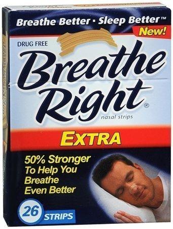 (130) Breathe Right Nasal Strips, Extra, by Breathe Right