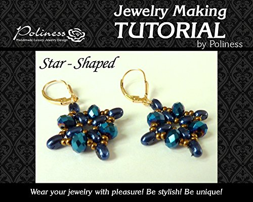 DIY Star Shaped Earrings, Jewellery making tutorial practical Step by step Guide on How to make Handmade Jewellery with twin beads