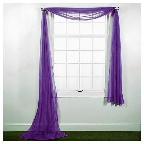Purple Window Scarves Amazon Com