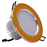 Modern Recessed Chrome Ceiling Spot Downlight Professional Quality Aluminum LED Driver Spotlights for Kitchen Bedroom Lounge Ultra Slim Commercial Lighting with 6500K White Light (Color : 3W)
