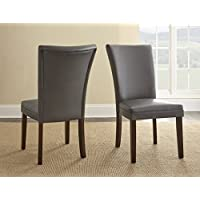 Steve Silver Company Berkley Parsons Chair- Set of 2, Gray