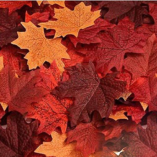 Echodo 600PCS Artificial Maple Leaves Decorations Autumn Fall Leaves for Thanksgiving Autumn Leaf Wedding Party