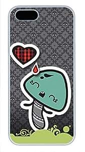 iCustomonline Sad Mushroom Funny Case for iPhone 5C Soft White