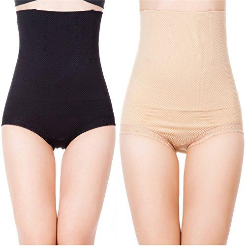 4c084140fa02 Womens Shapewear Panties High Waist Brief Tummy Control Butt ...