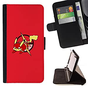 Jordan Colourful Shop - Red P0kemon Pika For Apple Iphone 5 / 5S - Leather Case Absorci???¡¯???€????€??????????&fno