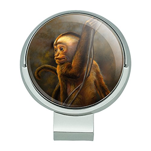 GRAPHICS & MORE Capuchin Monkey Organ Grinder Golf Hat Clip with Magnetic Ball Marker -