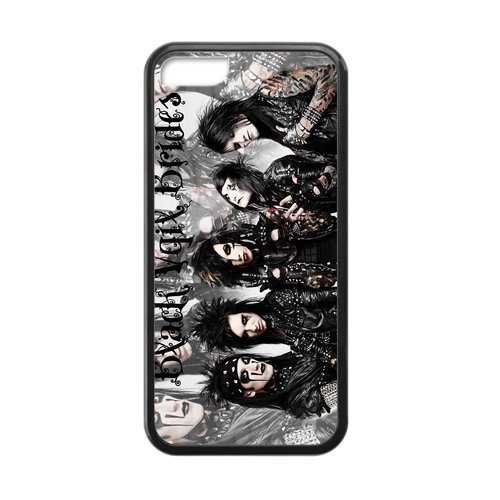 Generic Black Veil Brides Custom Cover Cases For IPhone 5C TPU (Laser Technology)