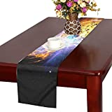 QYUESHANG Solar Flare Flare Explosion Ev Lacertae Nasa Sun Table Runner, Kitchen Dining Table Runner 16 X 72 Inch For Dinner Parties, Events, Decor