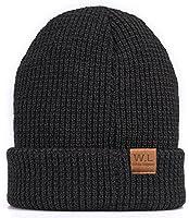 Knit Beanie Skull Hat ,caps men,- Soft Fleece Lined Slouchy Winter Cap by W.L