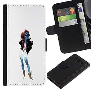 ZCell / Samsung Galaxy S3 III I9300 / Trendy Woman Girl Fashionable Sunglasses / Caso Shell Armor Funda Case Cover Wallet / Moda mujer niñ