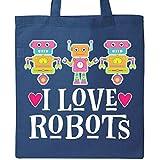 Inktastic - Robotics I Love Robots Gift Tote Bag Royal Blue 2d71c