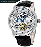 Stuhrling Original 371.01 Men's Legacy Automatic Self Wind Genuine Leather Strap Watch, Black