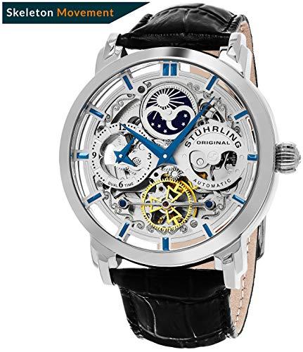 Stuhrling Original 371.01 Men's Legacy Automatic Self Wind Genuine Leather Strap Watch,...