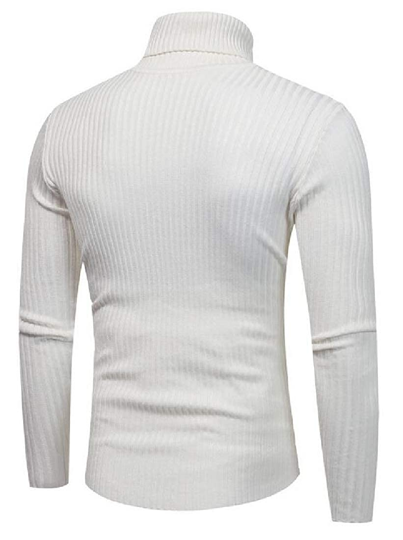 lovever Men Cable Pullover Sweater Turtleneck Pullover Pullover Knitted Sweater