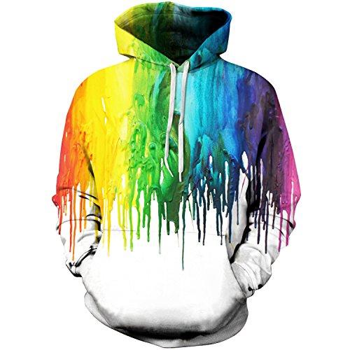 Roaays M Unisex 3D Hoodies Sweatshirts Funny Creative Pullover Hoodie S-3XL (Hoodie Sweatshirt Jumper)