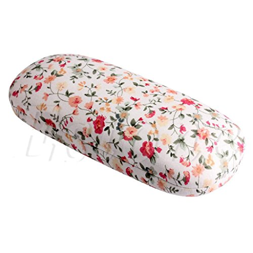Niceskin Portable Floral Eye Glasses Sunglasses Hard Case Protector, Plastic and Cloth - Ray Bans Floral