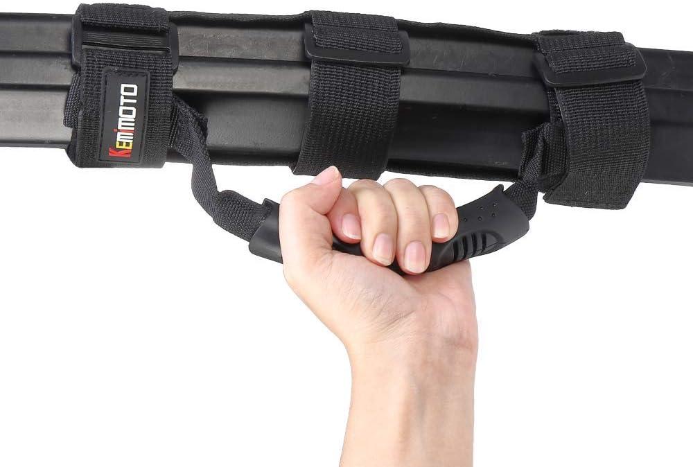 KEMIMOTO 4 Pack UTV Heavy Duty Roll Bar Grab Handle Grips Grab bar Hand Hold for Polaris RZR Ranger Can Am Kawasaki Honda Pioneer Talon Wildcat