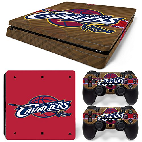 GoldenDeal PS4 Slim Console and DualShock 4 Controller Skin Set - Basketball NBA - PlayStation 4 Slim Vinyl