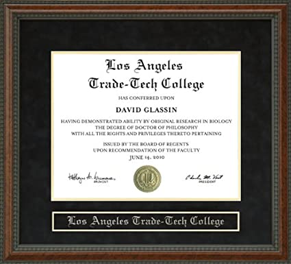 Amazon com - Los Angeles Trade-Tech College (LATTC) Diploma