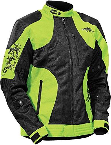 - Castle Prism Woman's Motorcycle Jacket Hi-Vis MED