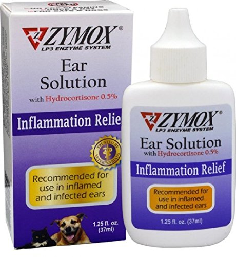 ZYMOX Otic Dog Pet Ear Treatment with Hydrocortisone 1.25 oz