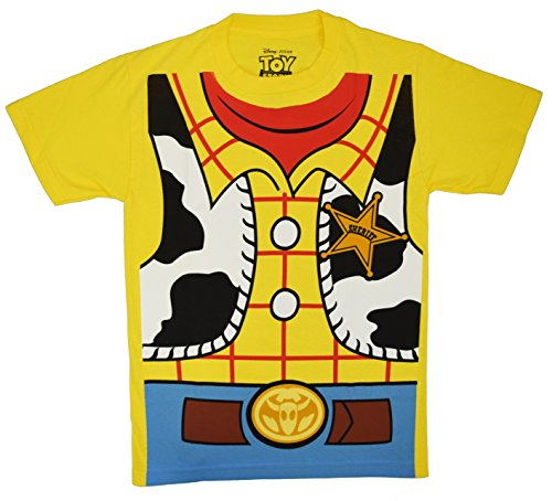 Disneyland Costume (Toy Story Woody Cowboy Costume Adult T-shirt Tee (Extra Large, Banana Yellow))