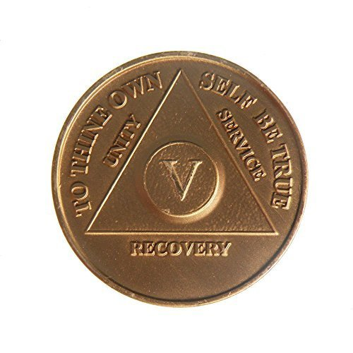 5 Year Bronze AA (Alcoholics Anonymous) - Sober / Sobriety / Birthday / Anniversary / Recovery / Medallion / Coin / Chip by Generic