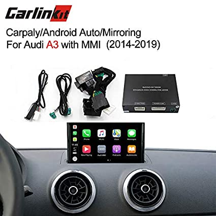 Carlinkit Car Airplay Android Auto Carplay Box Interface for Audi A3 MMI  Factory Screen Upgrade with Android Auto iOS12 AirPlay Screen