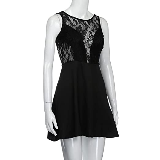 Amazon.com: Sumen Young Girls Summer Casual Backless Cocktail Lace Short Mini Dress: Sports & Outdoors