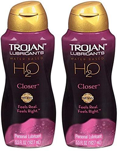Trojan Lubricants H2O Closer, 5.5 fl oz, 2 Boxes