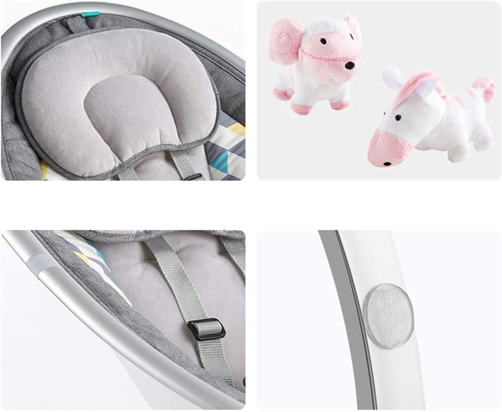 Elise Rocker beb/é Silla El/éctrica Inteligente Mecedora con Swing Mosquitera Cinco Velocidad Silencio Bluetooth Wireless USB M/úsica for beb/és Confort Silla Gris