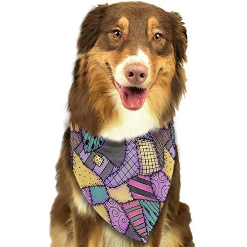 ZZJIAK Dog Bandana Scarf Sally Ragdoll Scraps Triangle Bibs Printing Kerchief Set Accessories Dogs Cats Pets ()
