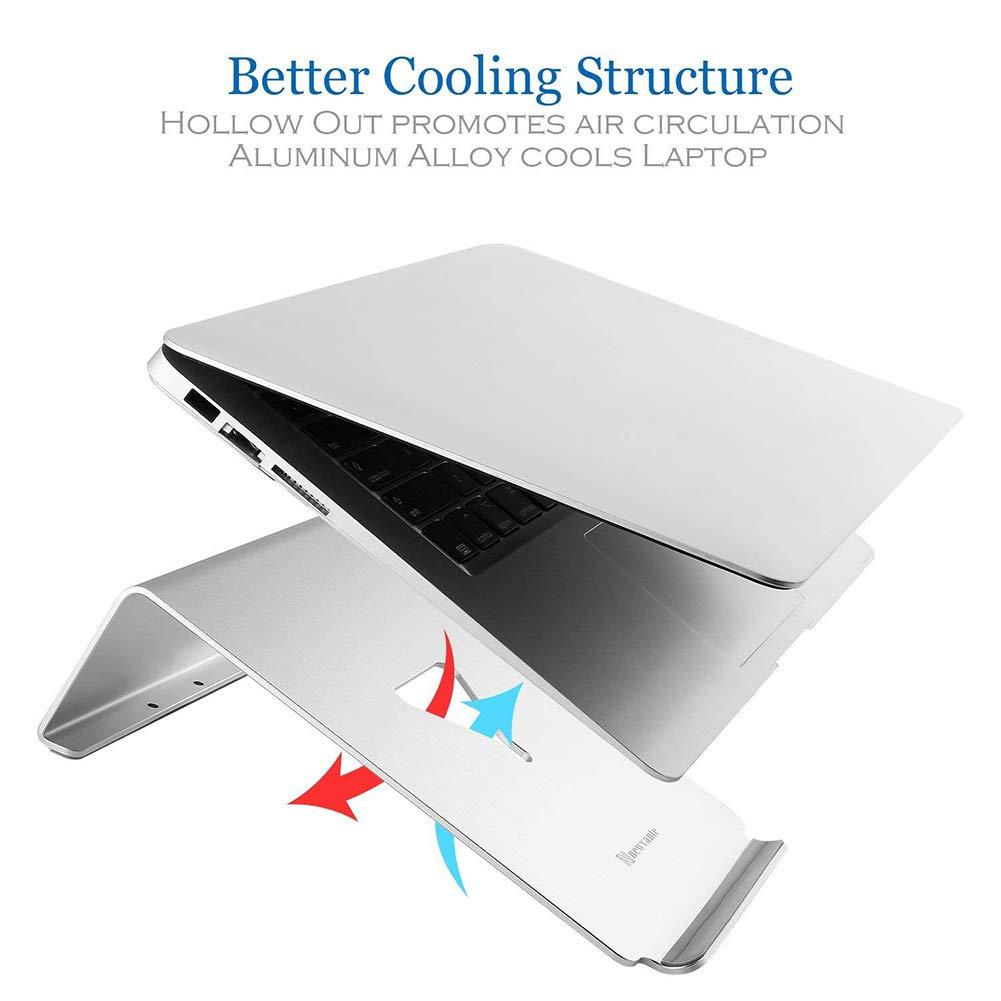 Nnewvante Laptopst/änder Starke Stabilit/ät und Robuster Aluminium Notebook st/änder Cooling Laptop Stand Das Ergonomy Design Tablethalterung Gute W/ärmeableitung Kabelmanagement Laptophalterung Silber